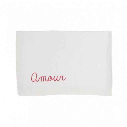 Baby blanket customizable  natural white birth gift idea