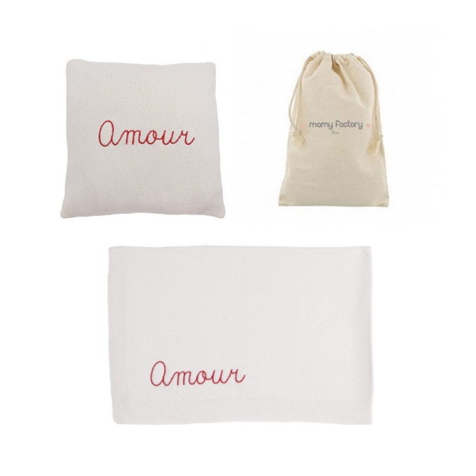 Gift Box Personalised White Cushion & Blanket