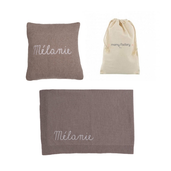 Gift Box : Personalised Doe Cushion & Blanket