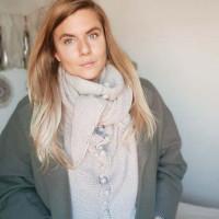 Kit Tricot - Châle Alba Collab Petite Biche Rose