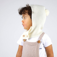 Félicie rompers for baby - natural white color - made from 100% cotton