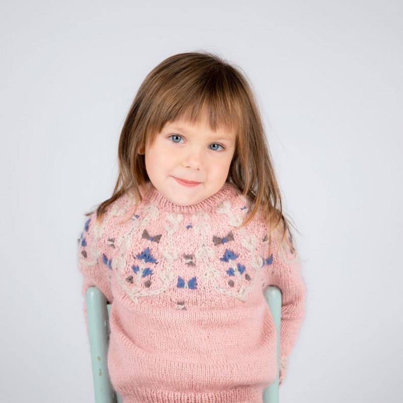 Modele tricot PDF - Pull Bucolique pour enfants