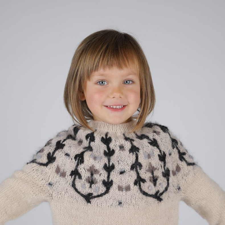 French and Japanese PDF Pattern - Bucolique Sweater for kids