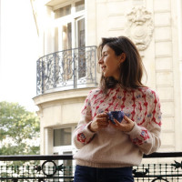 French and Japanese PDF Pattern - Bucolique Sweater for women