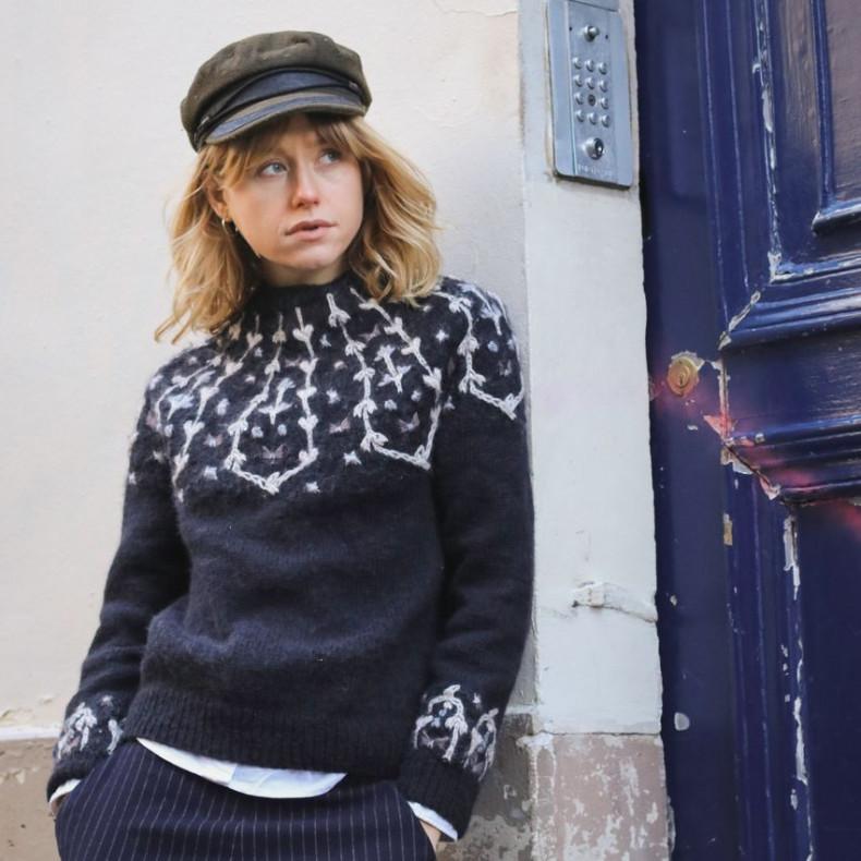 Modele tricot PDF - Pull Bucolique pour femmes