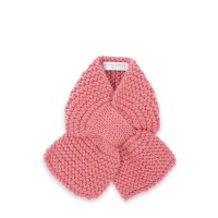 Léontine scarf for baby - Candy pink color - Merino wool