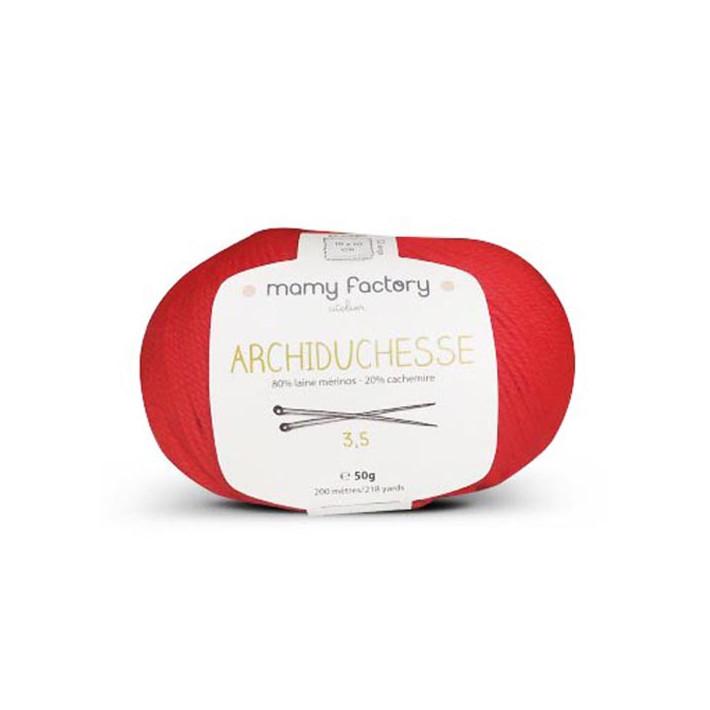 Pelote de laine Archiduchesse - ROUGE