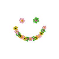 Body brodé smiley à  fleurs - coton bio