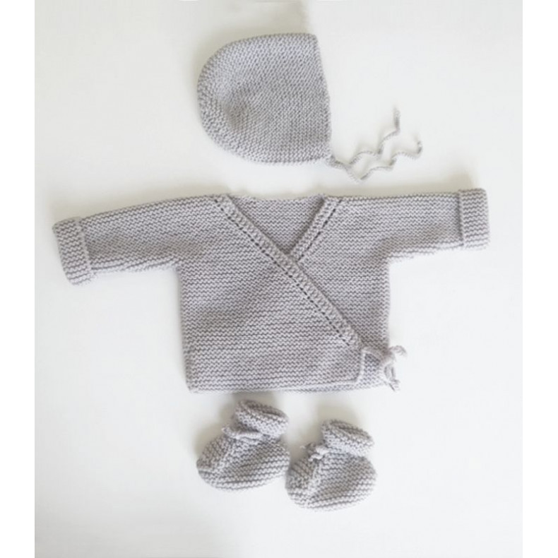 Modèle tricot PDF - Chaussons Alix