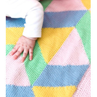 Modèle tricot PDF -  Couverture Arlequin