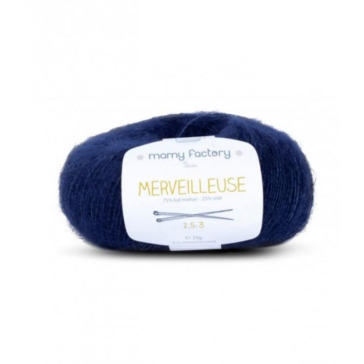 Pelote de laine Merveilleuse - MARINE