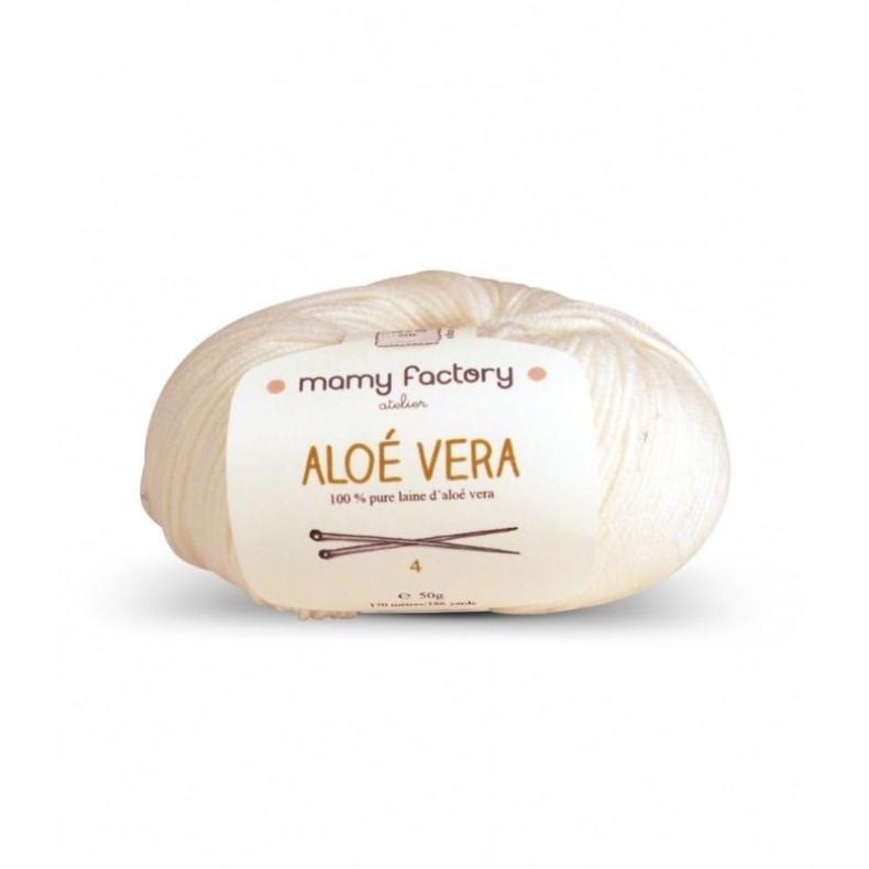 Pelote de laine Aloe Vera - BLANC LAIT