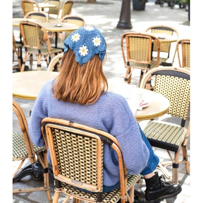 Modèle tricot PDF - Bandana Flore