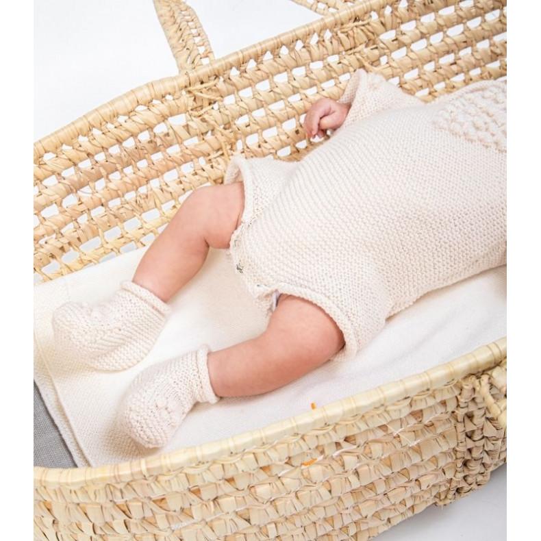Modèle tricot PDF - Chaussons a noppes Corto