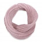 écharpe snood enfant mauve tricoté en laine et alpaga très doux et chaud