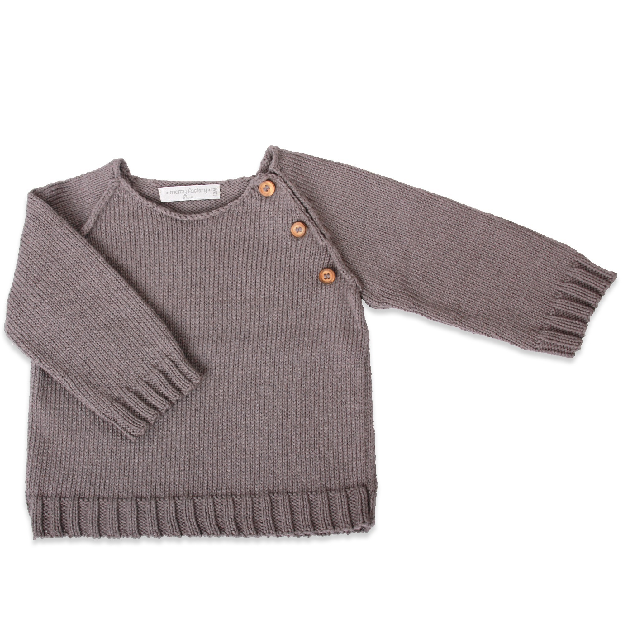 Grannys Knitwear Anthracite Jumper And Raglan Sleeves 90 Cotton