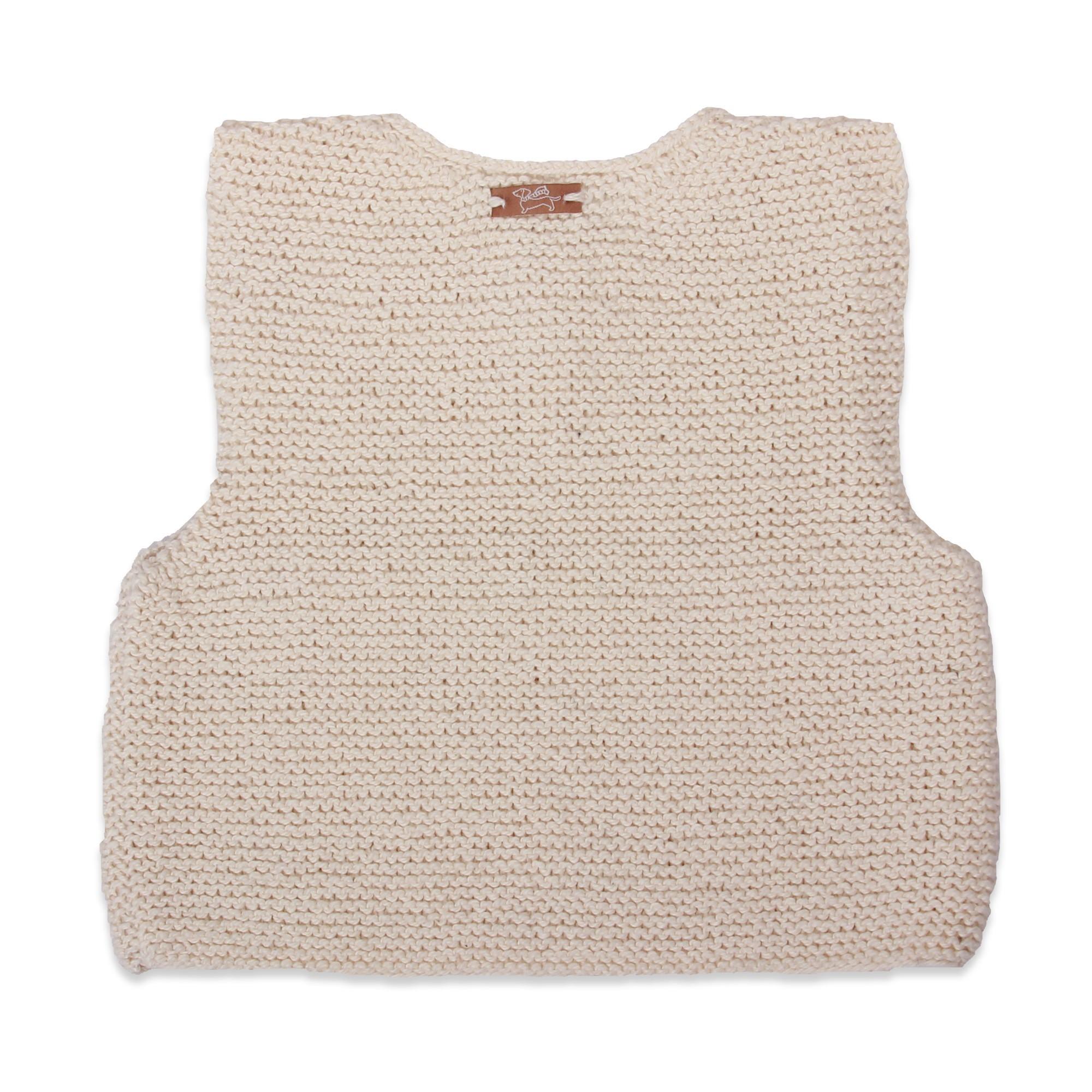 sleeveless jumper toddler natural white cotton
