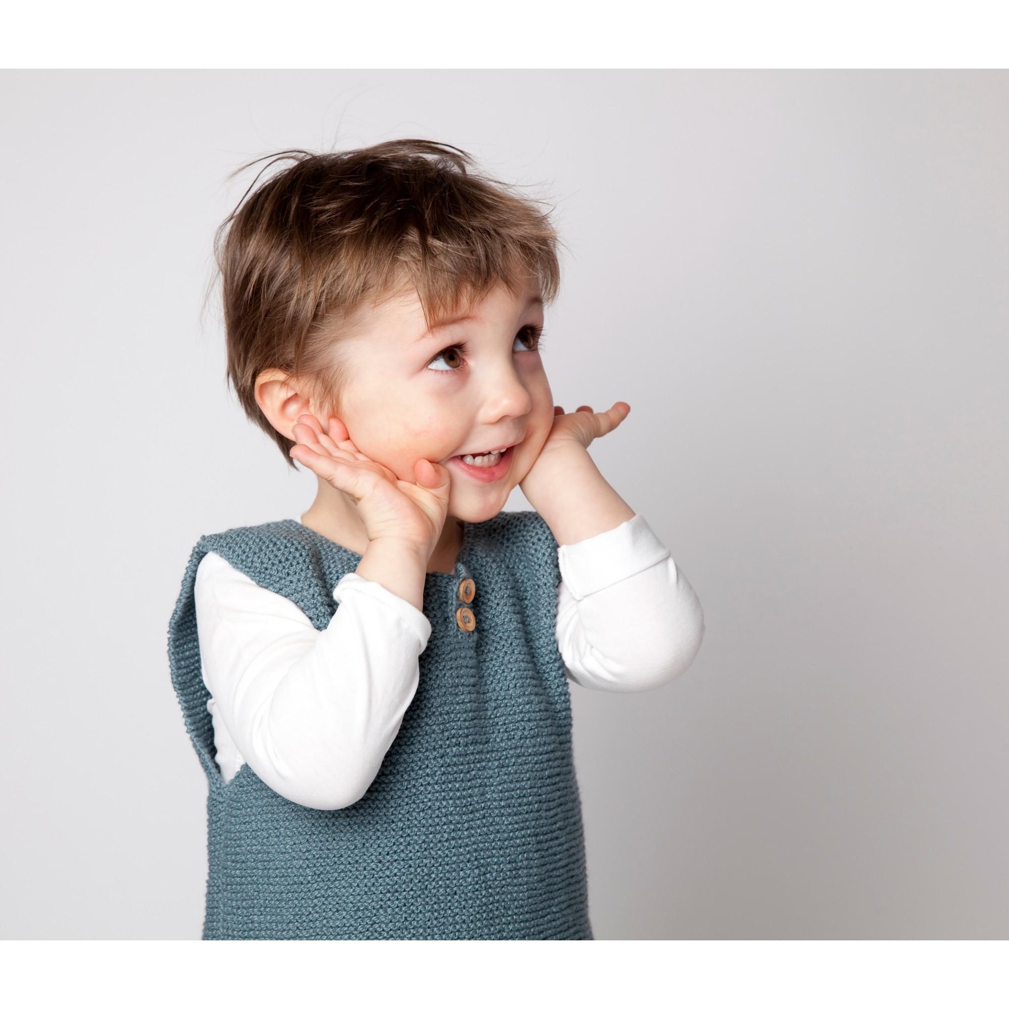 d bardeur couleur jade pour b b et enfant tricot en coton. Black Bedroom Furniture Sets. Home Design Ideas