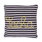 knitted cushion customizable with embroidered baby name or initials