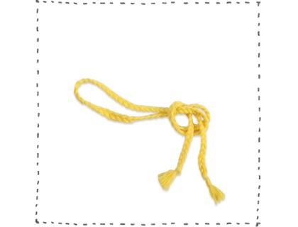 ceinture jaune tressée laine coton bambou accessoire mode enfant bébé