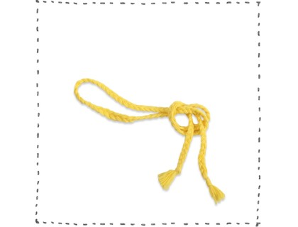 Plaited yellow lemon belt