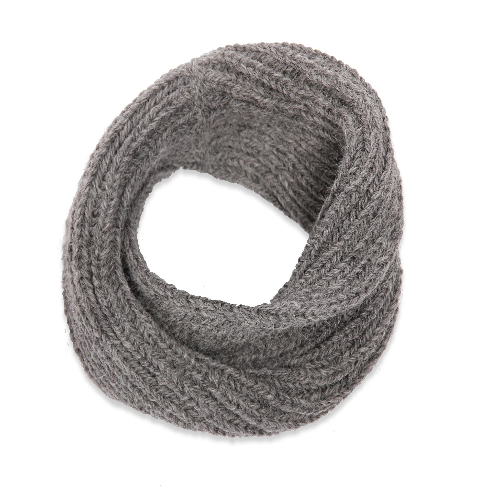 charpe snood col enfant gris tricot en laine et alpaga doux et chaud. Black Bedroom Furniture Sets. Home Design Ideas