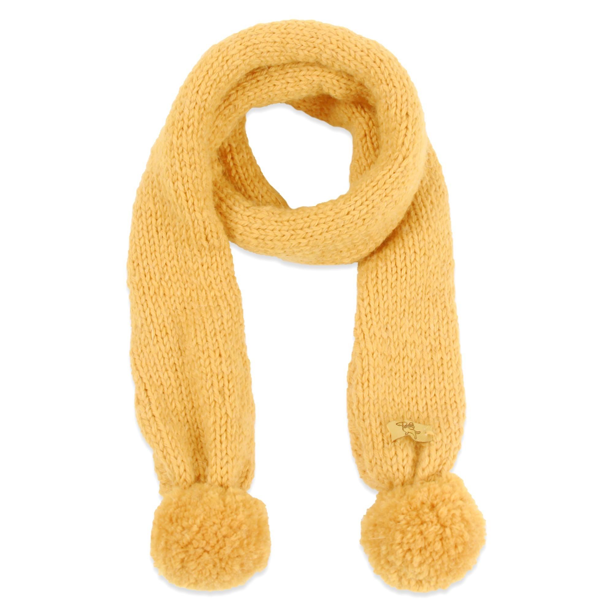 78a43779aad3 Echarpe enfant miel tricotée main en laine et aplaga très doux et chaud