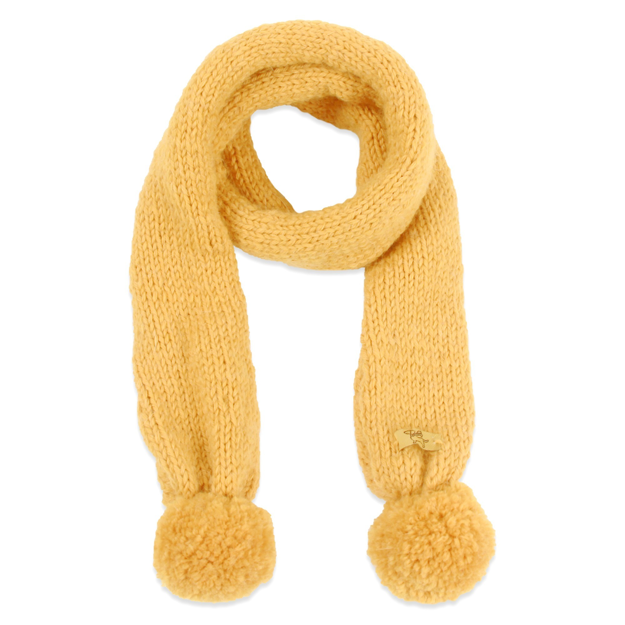 Granny s knitwear yellow colors baby scarf made from wool amp alpaca