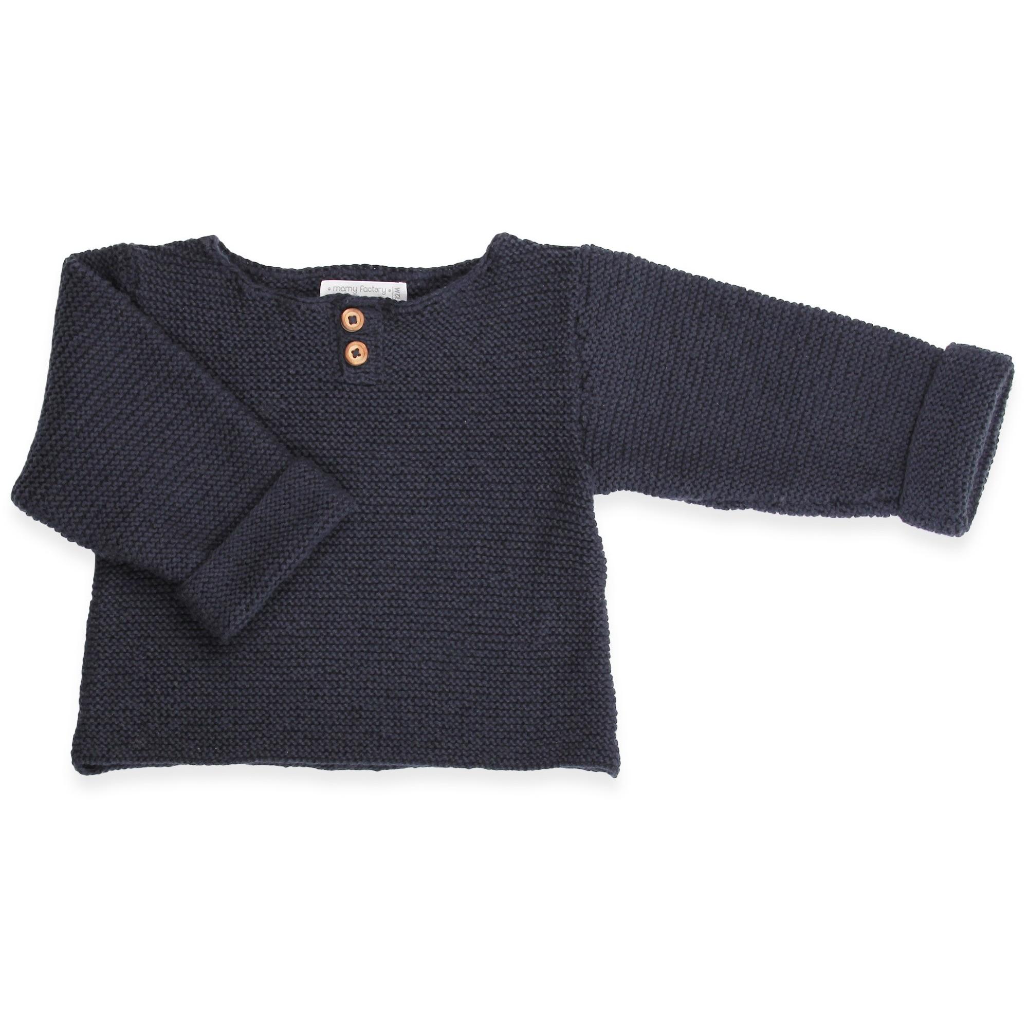 pull tricote main bebe