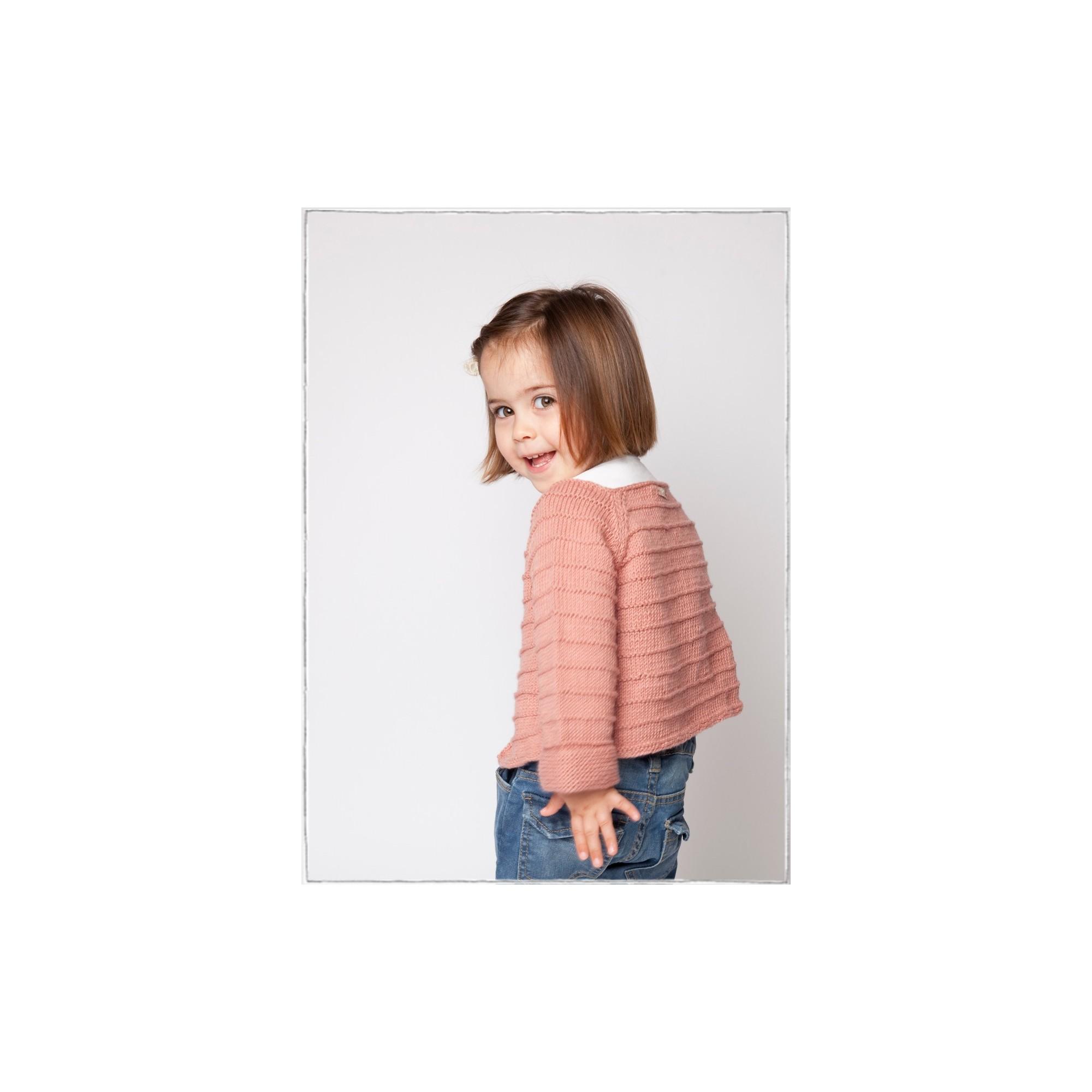 les tricots de mamy gilet ray b b fille coloris vieux rose laine coton et cachemire avec. Black Bedroom Furniture Sets. Home Design Ideas