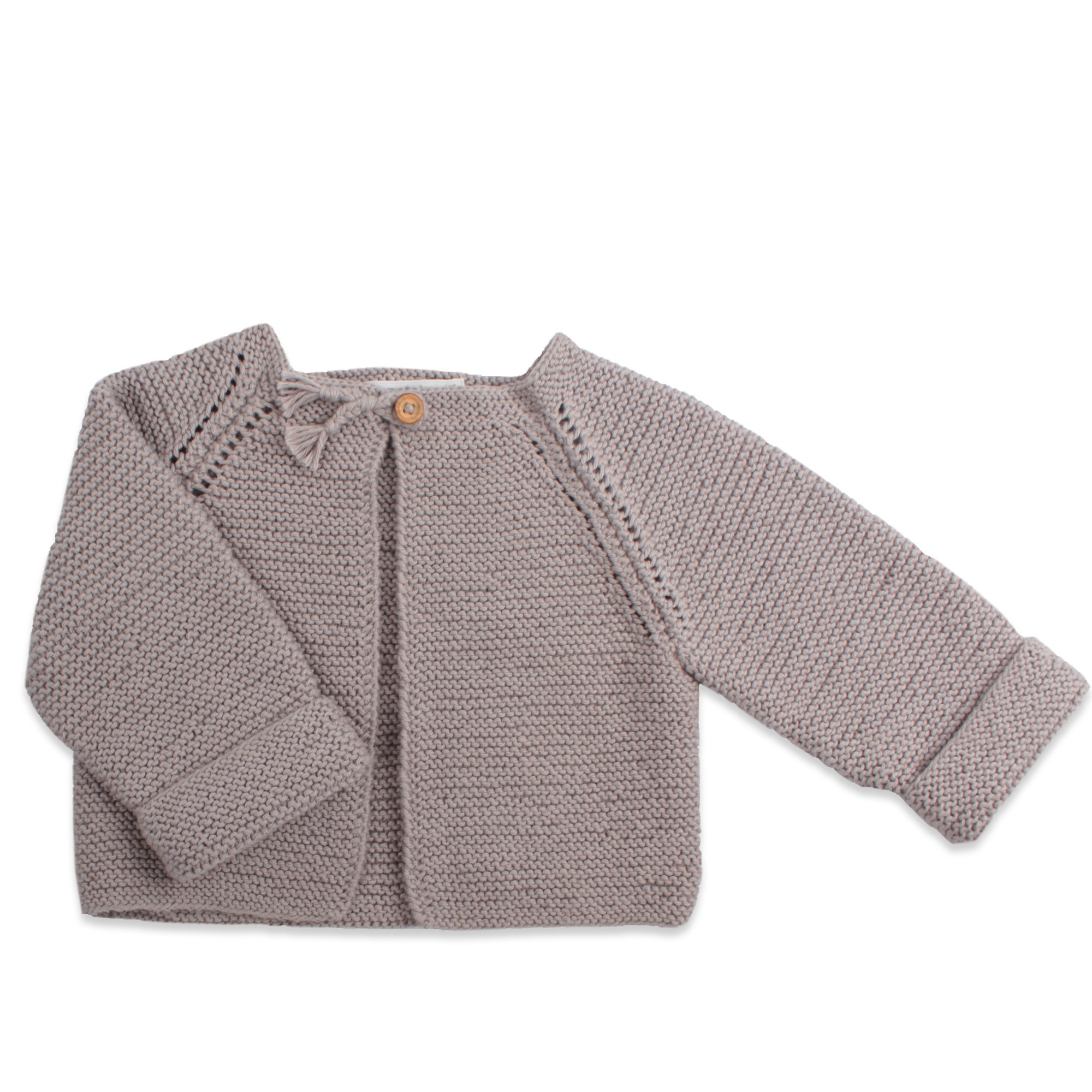 1a96474cd Kid s cardigan.Knitted from grey cotton   cashmerefor more softness.