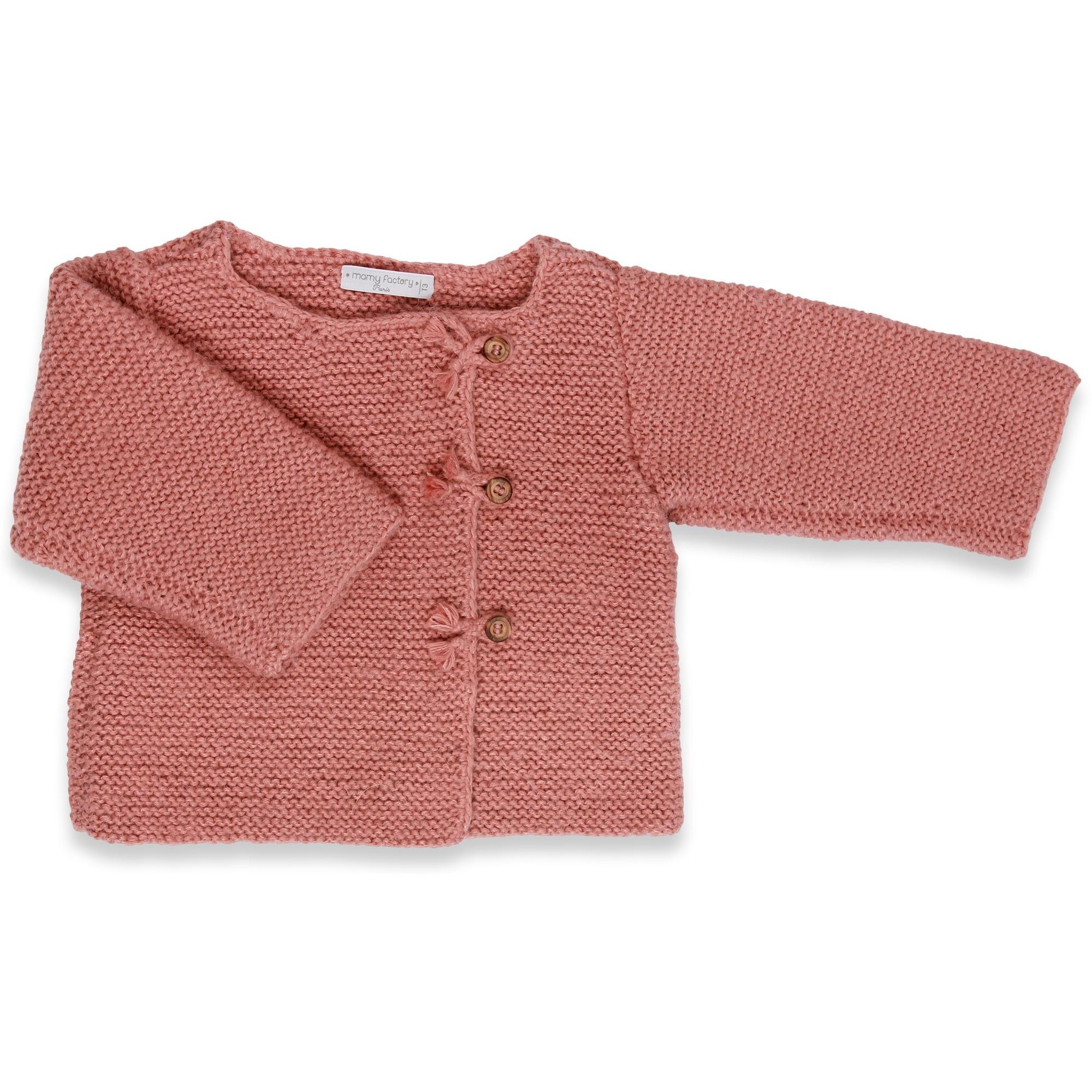 Top Les tricots de Mamy - Gilet manches longues bébé enfant fille  IU38
