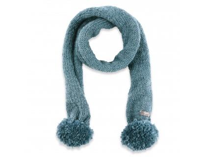 Les tricots de mamy - Echarpe bleu garçon TU avec pompons, 95 cm, en ... 85e2cc450a9