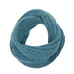 Blue snood scarf for kids made from wool and alpaca