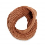 Snood - col enfant écharpe en laine et alpaga couleur marron camel