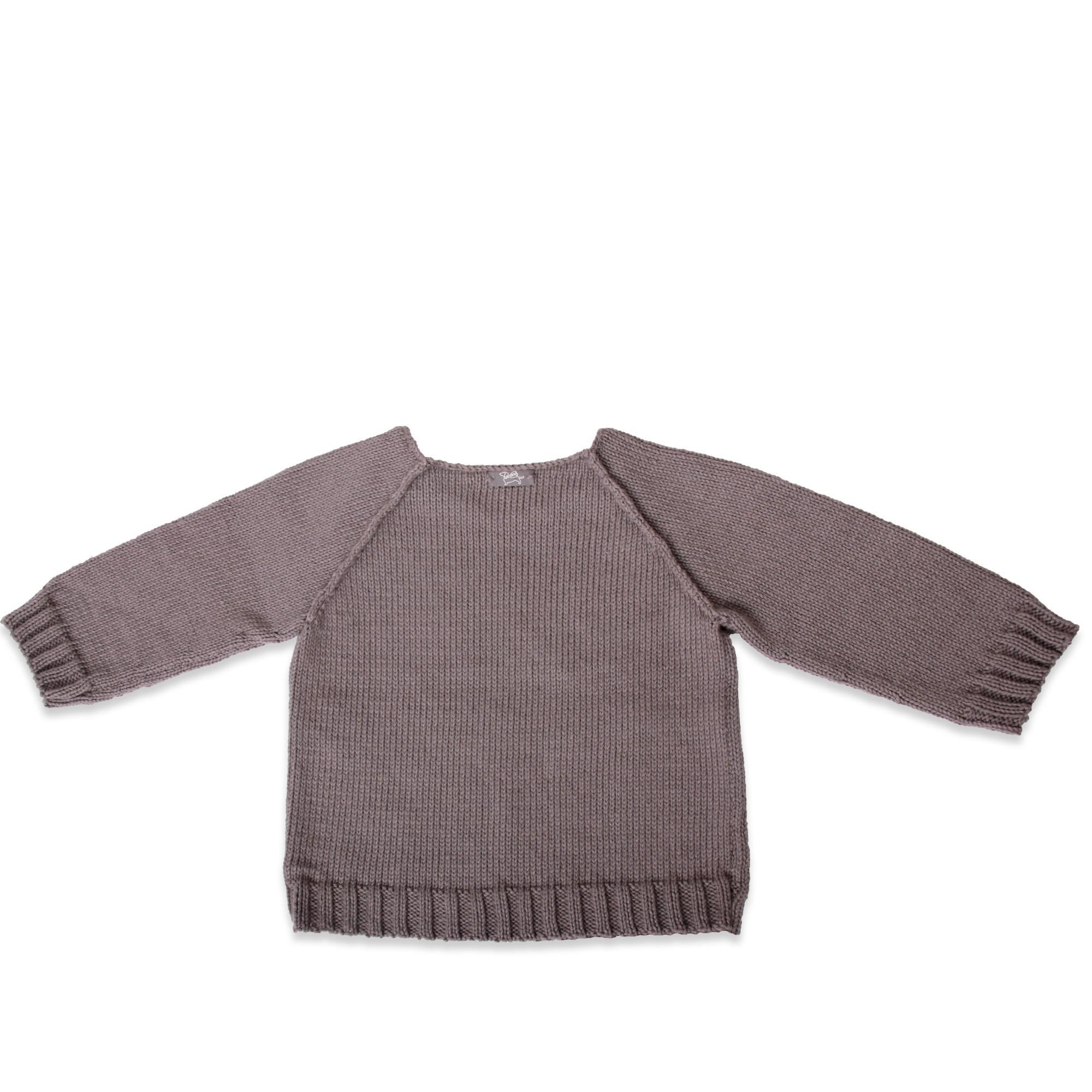 Pull enfant et écolier point jersey gris anthracite
