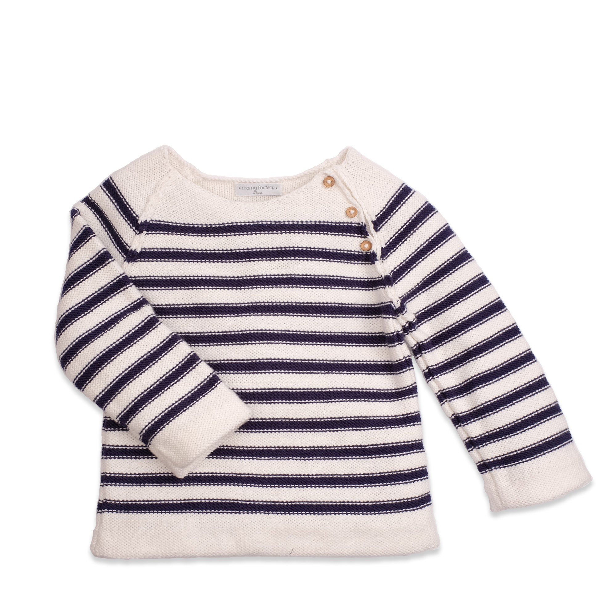 0ece6604e Granny s knitwear – natural white and navy-blue striped jumper. 85 ...