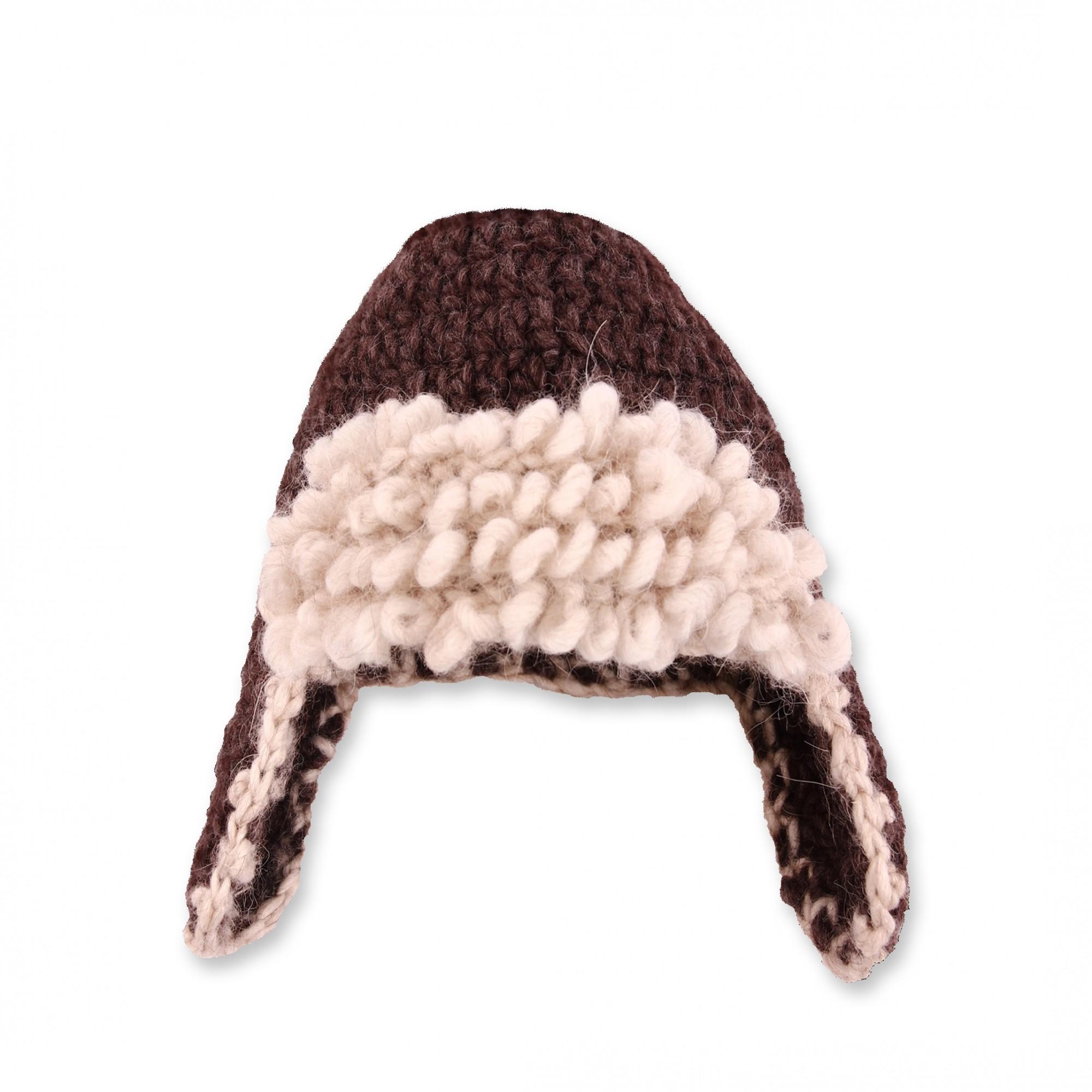 Les tricots de mamy - Bonnet bébé style aviateur coloris marron ... c1179315073