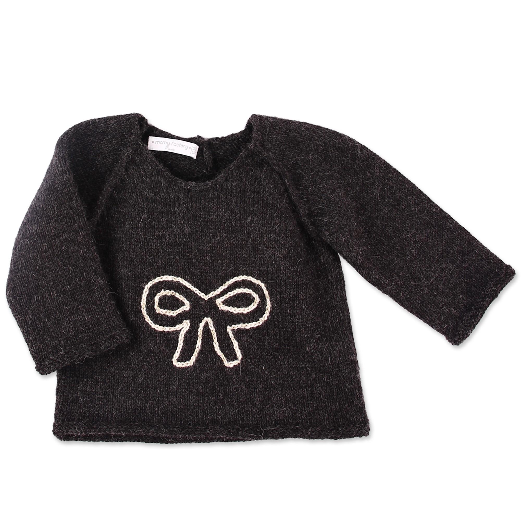 les tricots de mamy pull b b fille anthracite tricot. Black Bedroom Furniture Sets. Home Design Ideas