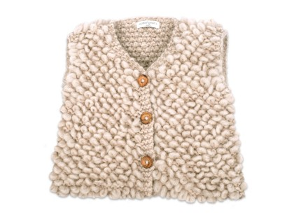 Philibert sleeveless cardigan beige