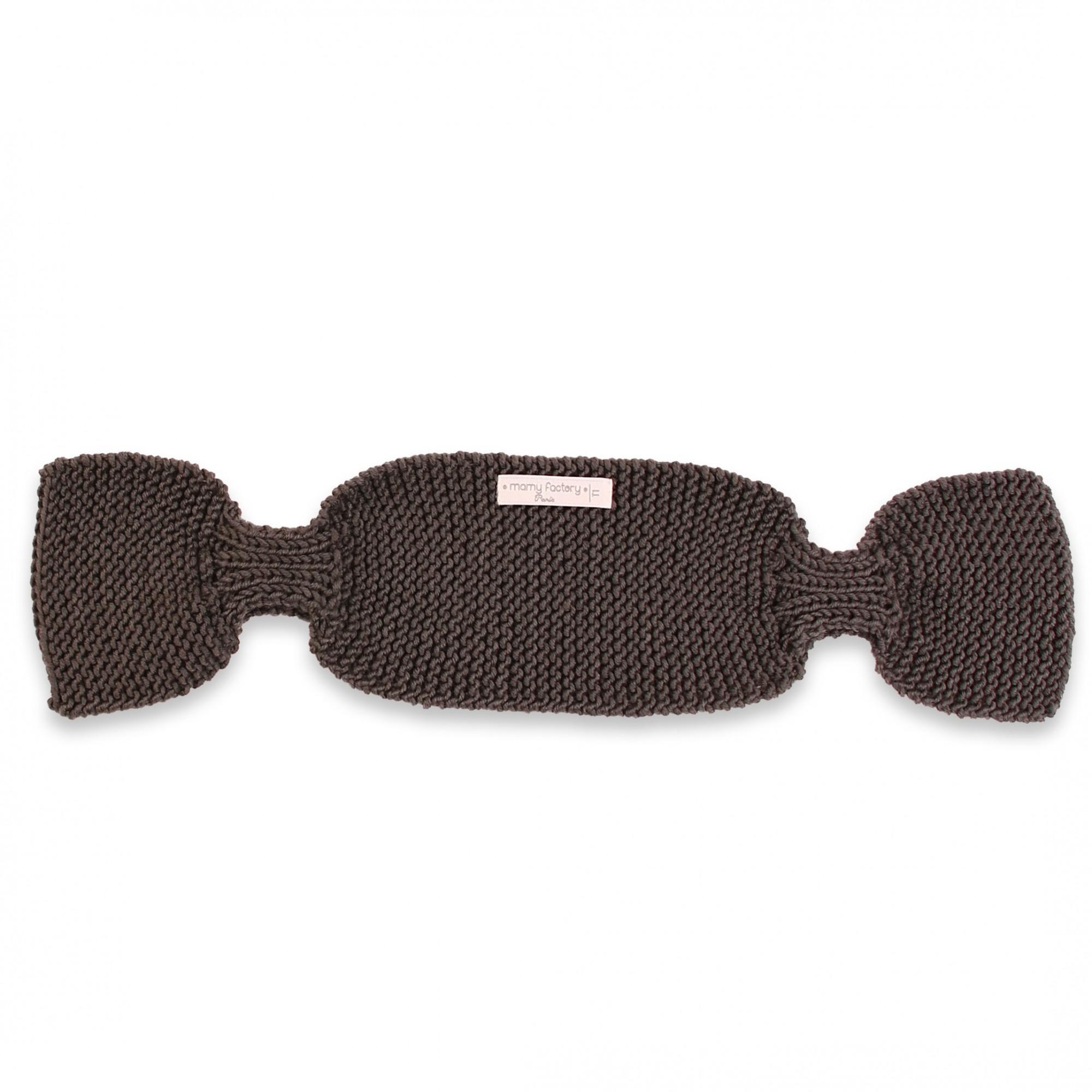 Écharpe Léontine tricotée main couleur noire