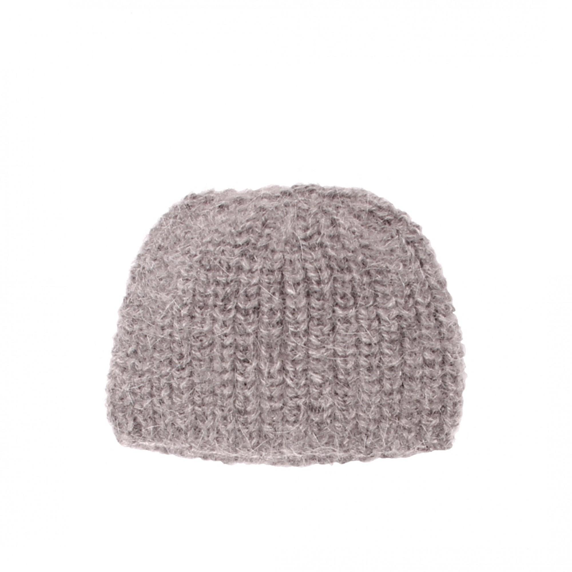 les tricots de mamy bonnet enfant coloris gris tricot main en c tes perl es en m rinos et. Black Bedroom Furniture Sets. Home Design Ideas