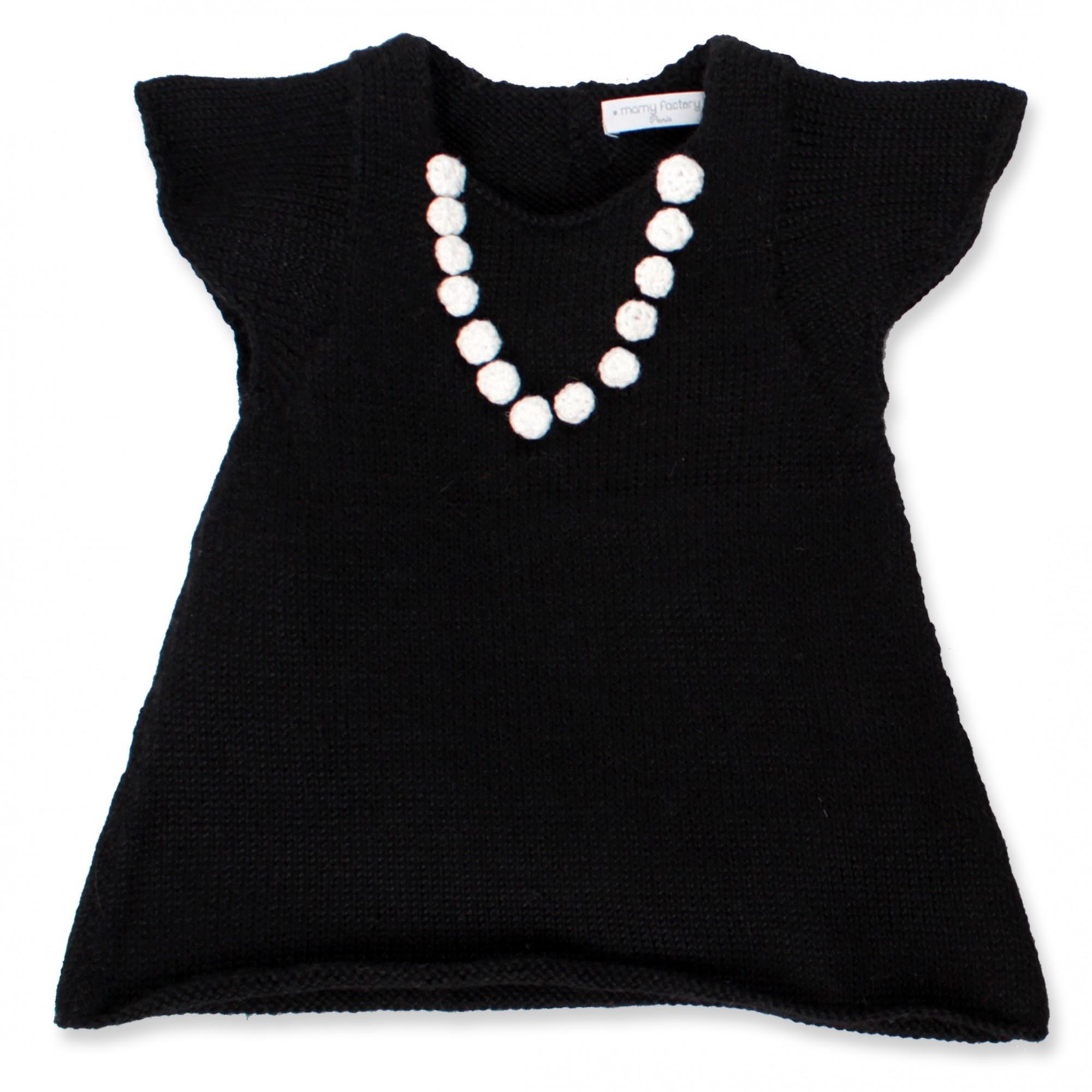Robe en laine avec perle
