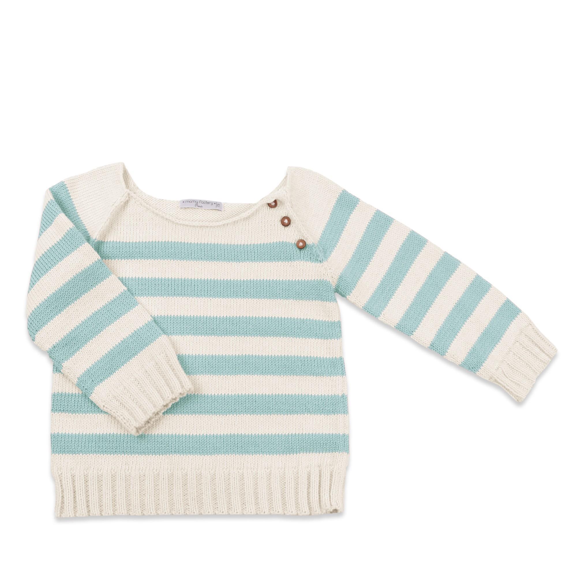 Les tricots de mamy pull enfant cru ray en coton for Pull cachemire enfant