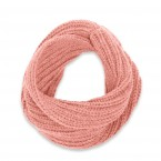 Kid snood made from wool and alpaca old pink color