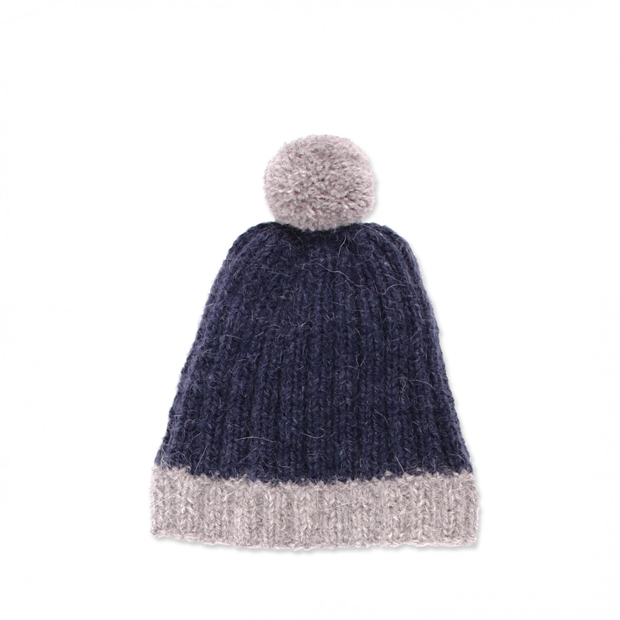 Les tricots de mamy - Bonnet enfant bicolore bleu marine et gris ... aff676aa56b