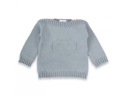 Isidor sweater azure blue