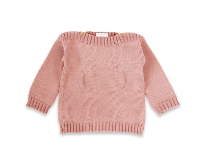 Isidor sweater for baby - opaline pink color - made from cotton