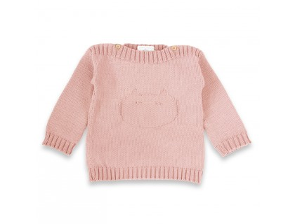 Isidor sweater opaline pink for kids