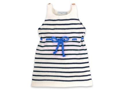 Robe Honorée ceinture bleu